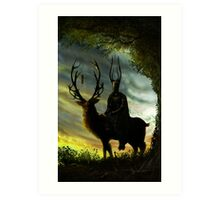 Stag Lord Art Print