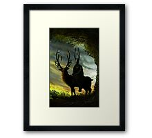 Stag Lord Framed Print