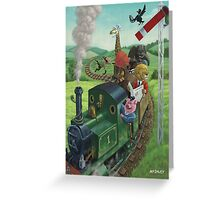 animal train journey Greeting Card