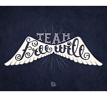 Supernatural Team Free Will Quote Photographic Print