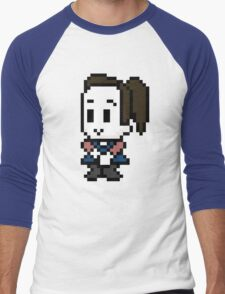 8-Bit Annie Edison  Men's Baseball ¾ T-Shirt