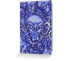 Blue Hookah Greeting Card