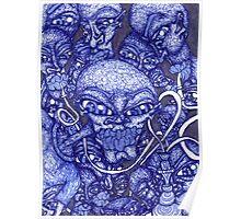 Blue Hookah Poster