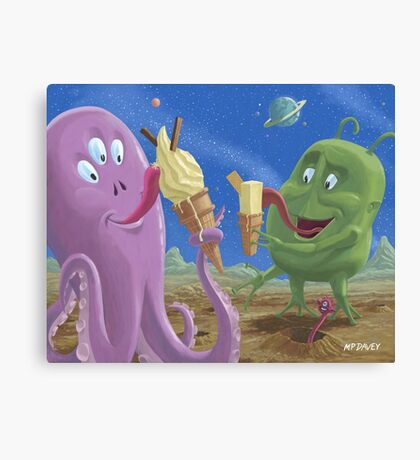 alien ice cream Canvas Print