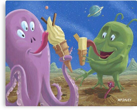 alien ice cream by martyee