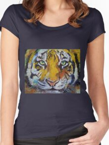 Tiger Psy Trance Women's Fitted Scoop T-Shirt