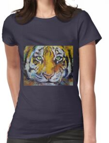 Tiger Psy Trance Womens Fitted T-Shirt