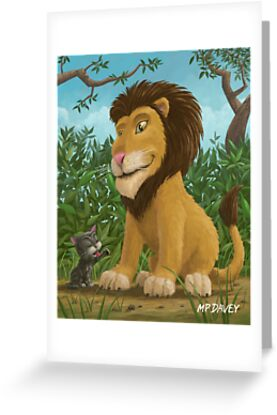 big lion small cat by martyee