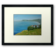 By the sea - North Yorkshire Framed Print