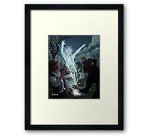 graveyard digger ghost Framed Print
