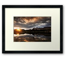 Dawn landing Framed Print