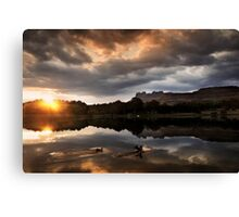 Dawn landing Canvas Print