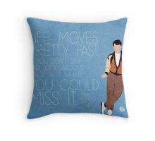 Ferris Bueller Quote Throw Pillow