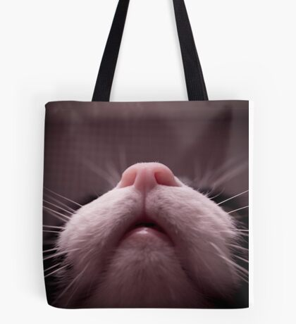 Mouth, nose and whiskers cat Tote Bag