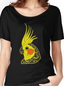 Cockatiel parrot tribal tattoo Women's Relaxed Fit T-Shirt