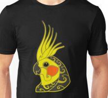 Cockatiel parrot tribal tattoo Unisex T-Shirt