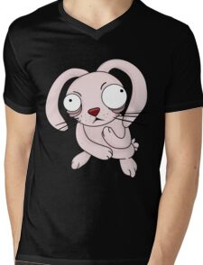 scared rabbit Mens V-Neck T-Shirt