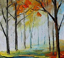 QUIET PATH - Original Art Oil Painting By Leonid Afremov by Leonid  Afremov
