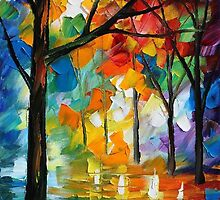 LONELY TREE - Original Art Oil Painting On Canvas By Leonid Afremov by Leonid  Afremov