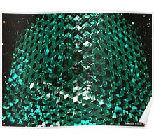 11 by 11 by 11 Green Glass Cubes Poster