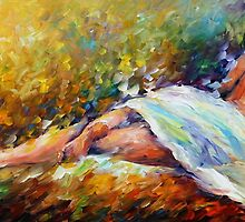 NAUGHTY DREAMS - Original Art Oil Painting On Canvas By Leonid Afremov by Leonid  Afremov