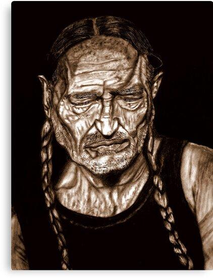Willie Nelson by Herbert Renard