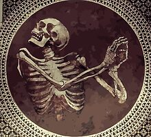 Dancing Skull + Skeleton Mosaic  by camboa