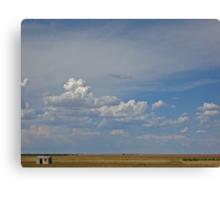 Small Shed - Nebraska Landscape Canvas Print