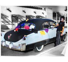He Rides in His Old Cadillac - Dia de Los Muertos  Poster