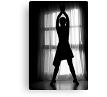 Latin woman dancing silhouette Canvas Print