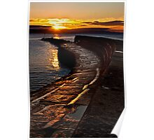 Golden sunrise over Lyme Regis Cobb Poster