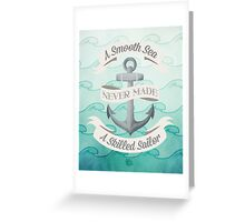 Smooth Sea Anchor Greeting Card