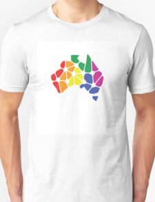 Equal Marriage Rights Australia (Rainbow Australia Logo) T-Shirt