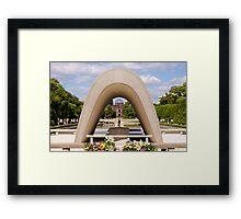 Hiroshima Peace Park Framed Print