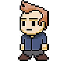 8-Bit Jeff Winger Photographic Print