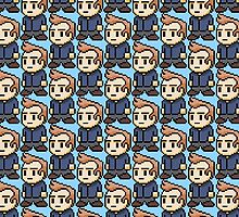 8-Bit Jeff Winger by CraftyG