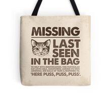 Missing Cat Tote Bag