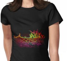 Glowing Trees Womens Fitted T-Shirt