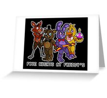Five Nights at Freddy's chibis Greeting Card