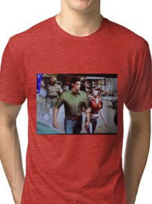 Chris and Claire Redfield. Tri-blend T-Shirt