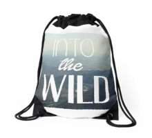 into the wild Drawstring Bag