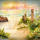 Beach Post Sunrise by Janis Lee Colon