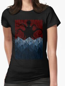 Cthulhu's sea of madness - Red Womens Fitted T-Shirt