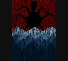 Cthulhu's sea of madness - Red Unisex T-Shirt