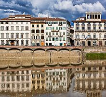 Reflections On The Arno River by Lynne Morris