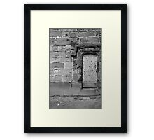 The door to nowhere Framed Print