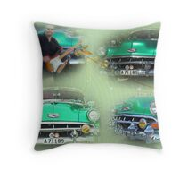 Chevy Bel Air -54 collage Throw Pillow