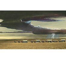 Wagon Train Photographic Print