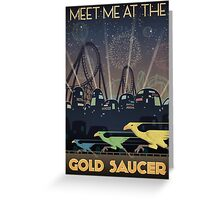 Final Fantasy VII Gold Saucer Travel Poster Greeting Card