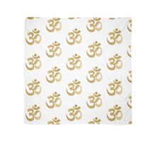 Gold and white om sign Scarf
